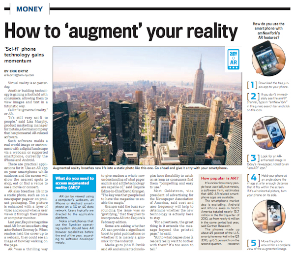 NY newspaper uses augmented reality to make Thanksgiving come alive
