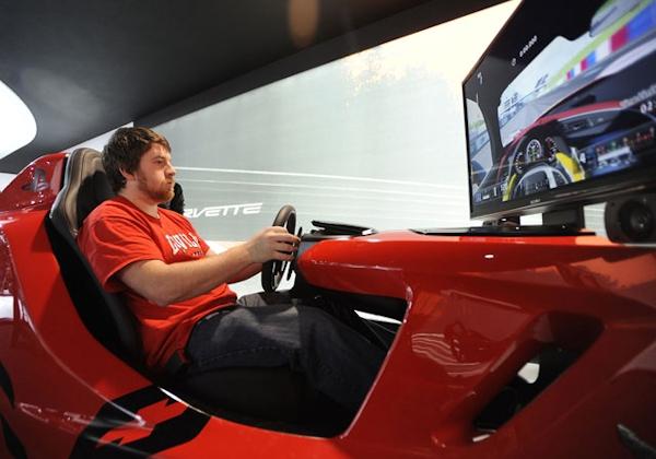 Simulator at Detroit Auto Show