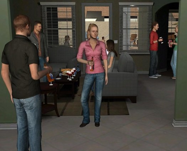 Virtual party with alcohol cues