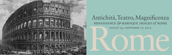 """Renaissance and Baroque Images of Rome"" exhibit banner"