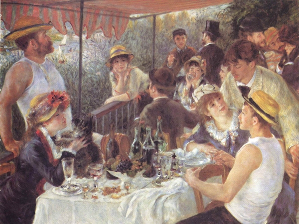 Renoir's Le déjeuner des canotiers (Luncheon of the Boating Party)