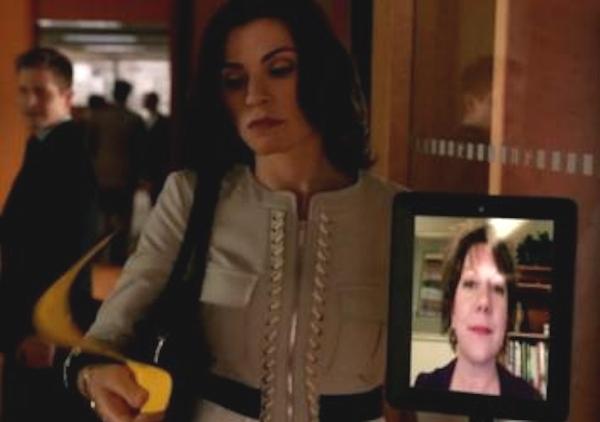 Telelpresence robot on The Good Wife