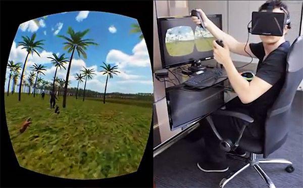Chris Zaharia's mind-control VR setup