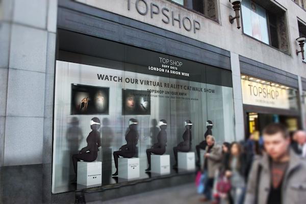 Topshop's Virtual Catwalk storefront