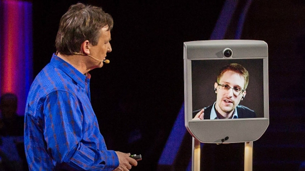 Edward Snowden BEAMS into TED-TED