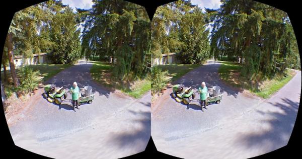 Grandma in OculusRift Streetview