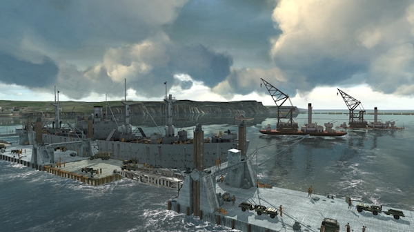 D-Day recreation: Mulberry Harbor
