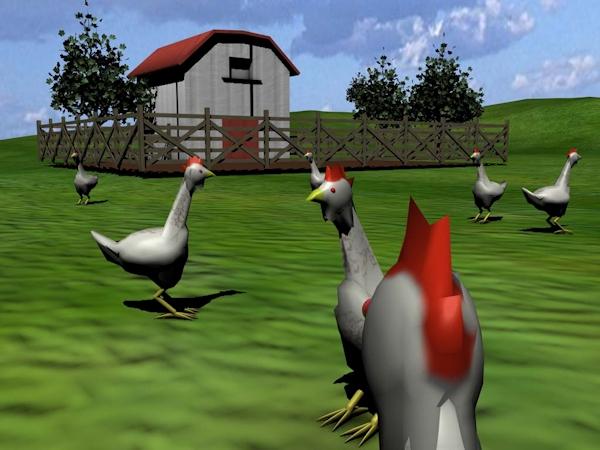 Second Livestock - Chicken view