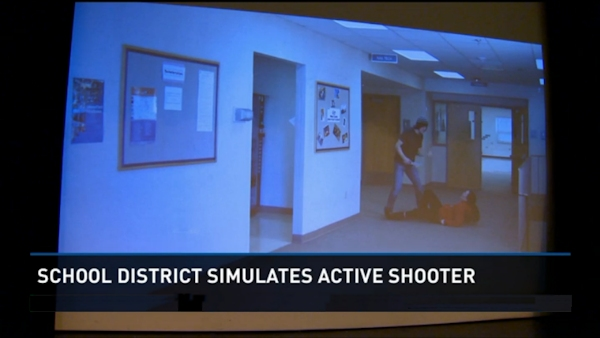 Simulator training for school shooting situations