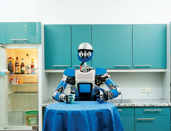 Robot sitting at your kitchen table