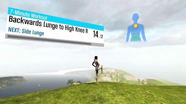 Runtastic fitness in Oculus Rift