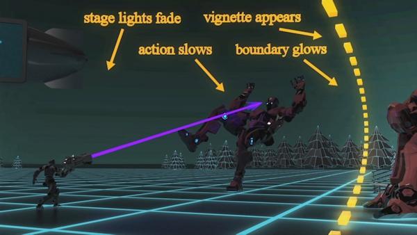 Visionary VR focus, buondary, sensory cues