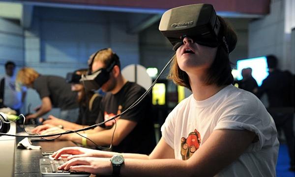 interacting via VR