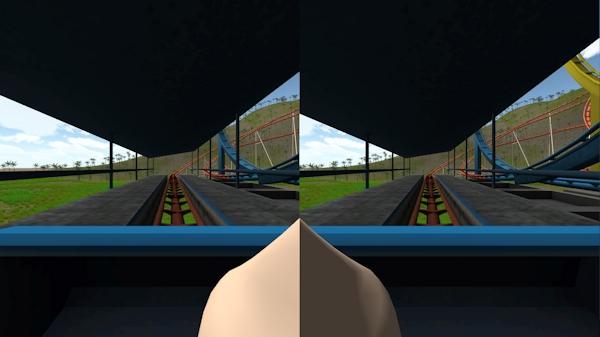 Simulator with virtual nose
