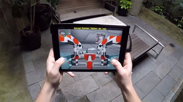 Star Ops 3D game for Structure sensor on iPad