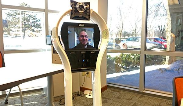 Telepresence robot at Nexus Academy of Columbus
