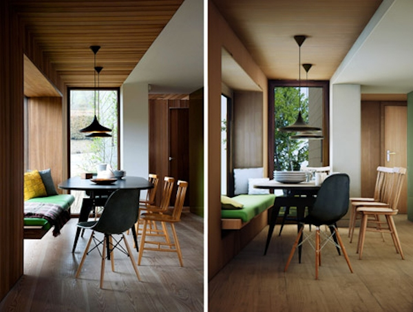 Ty Hedfan House: Table, real and virtual