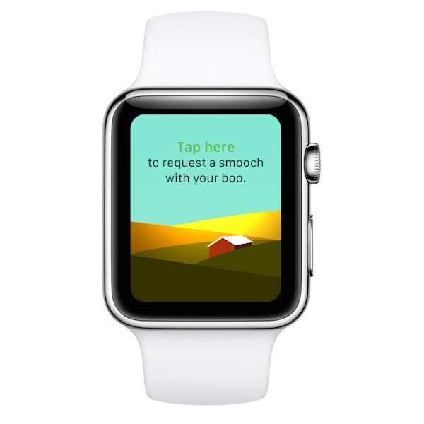 Apple Watch offers user a mediated kiss