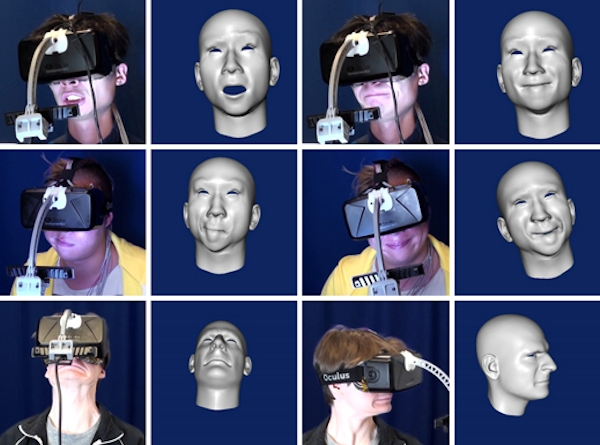User and avatar facial expressions with Oculus Rift