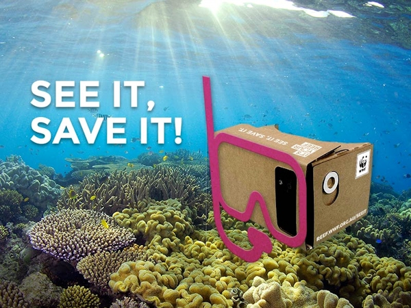 "Reef Goggles - ""See It, Save It"" graphic"