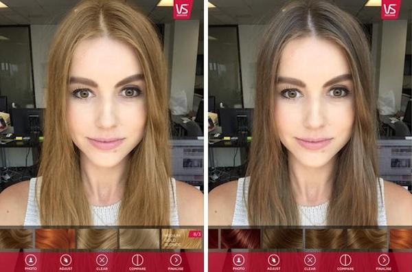 Strange Vidal Sassoon Ar App Lets You Try Different Hair Color Shades Short Hairstyles For Black Women Fulllsitofus