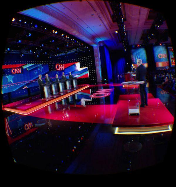 VR view of CNN Democratic debate
