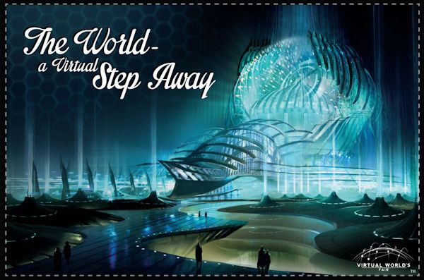 Landmark Virtual World's Fair postcard - PassPortal