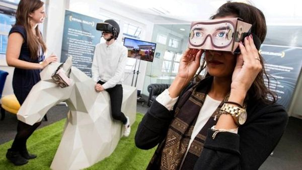 Virtual horseracing at William Hill Shoreditch lab