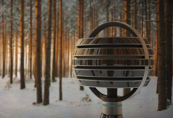 Lytro Immerge camera in woods