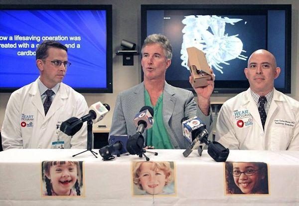 Doctors with Google Cardboard