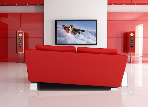 Immersit under red couch