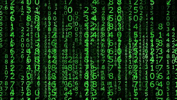 The Matrix falling code graphic