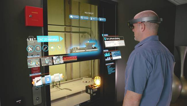 Using Hololens to look at elevator