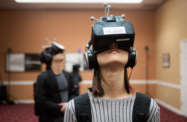 Experiencing VR project The Enemy